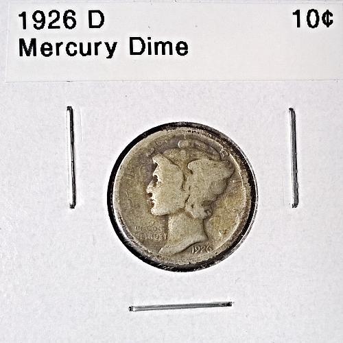 1926 D Mercury Dime - 4 Photos!