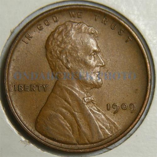 1909 VDB Lincoln Cent Retained Cud Obverse Error AU