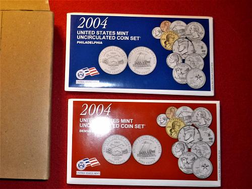 2004 P&D Uncirculated BU Mint Set