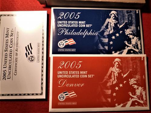 2005 P&D Uncirculated BU Mint Set