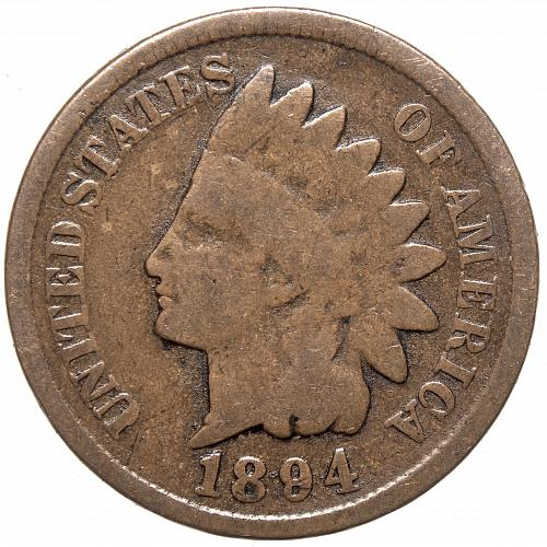 1894 P Indian Head Cent #30 Natural Brown