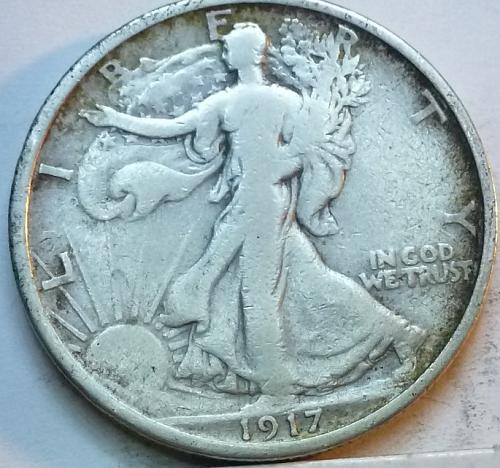 1917-P Fine Walking Liberty Half Dollar  ( 320 )