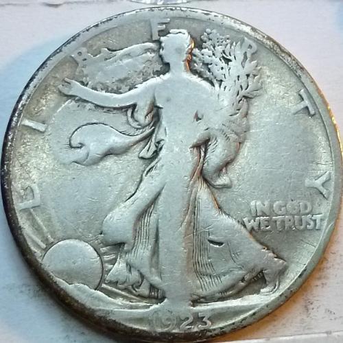 1923-S Fine Walking Liberty Half Dollar  ( 328 )