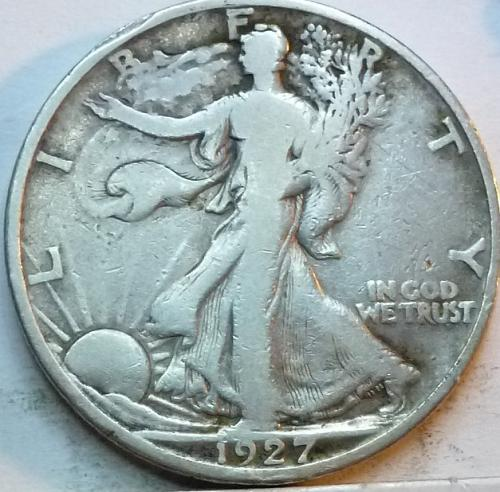 1927-S Fine Walking Liberty Half Dollar  ( 329 )