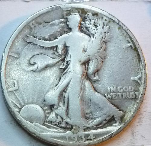 1934-D Fine Walking Liberty Half Dollar  ( 334 )