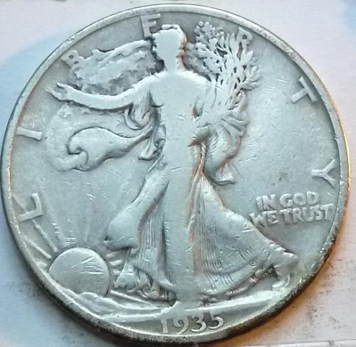 1935-D Very Fine Walking Liberty Half Dollar  ( 337 )