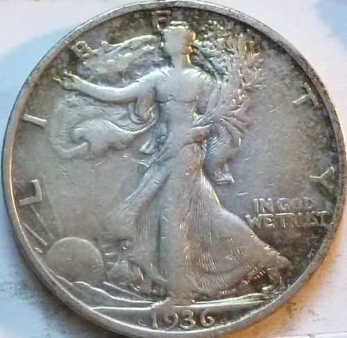 1936-S Extra Fine Walking Liberty Half Dollar  ( 341 )