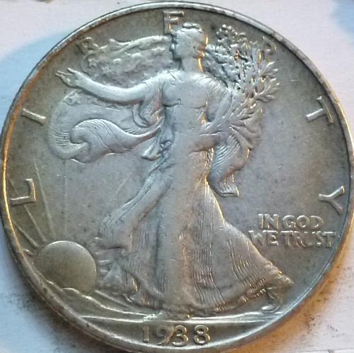 1938-P Extra Fine Walking Liberty Half Dollar  ( 345 )