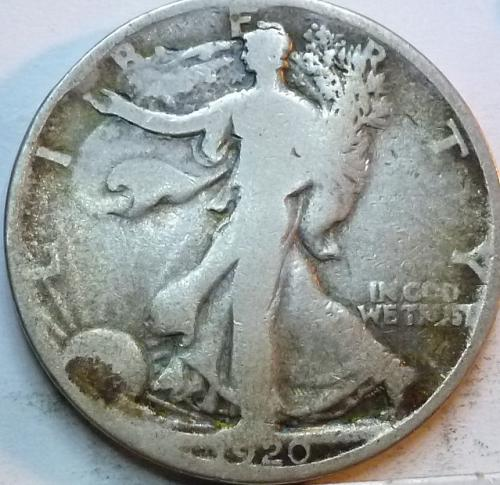 1920-P Very Good Walking Liberty Half Dollar  ( 326 )