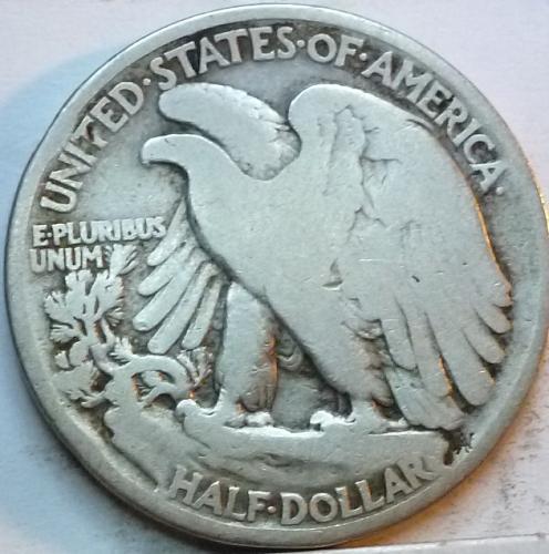 1920-P Very Good Walking Liberty Half Dollar  ( 326 )