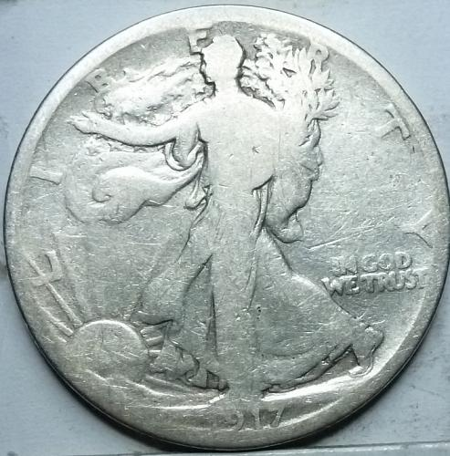 1917-D Reverse Good Walking Liberty Half Dollar  ( 315 )