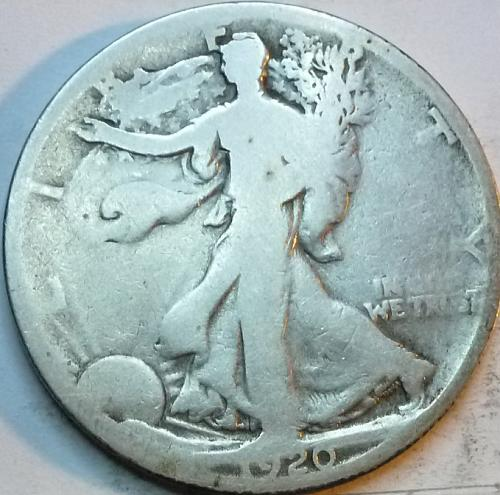 1920-D Good Walking Liberty Half Dollar  ( 324 )