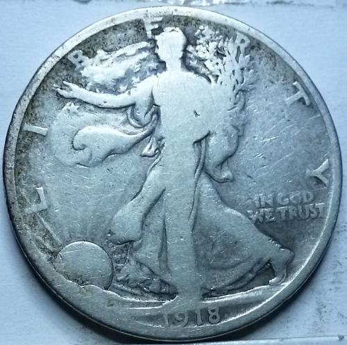 1918-P Very Good Walking Liberty Half Dollar  ( 317 )