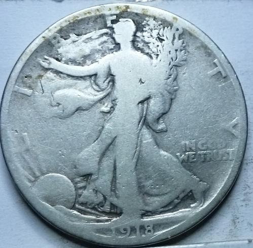 1918-S Very Good Walking Liberty Half Dollar  ( 319 )