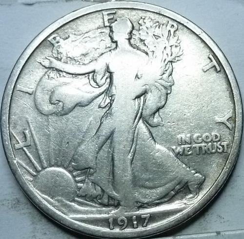 1917-P Fine Walking Liberty Half Dollar  ( 314 )