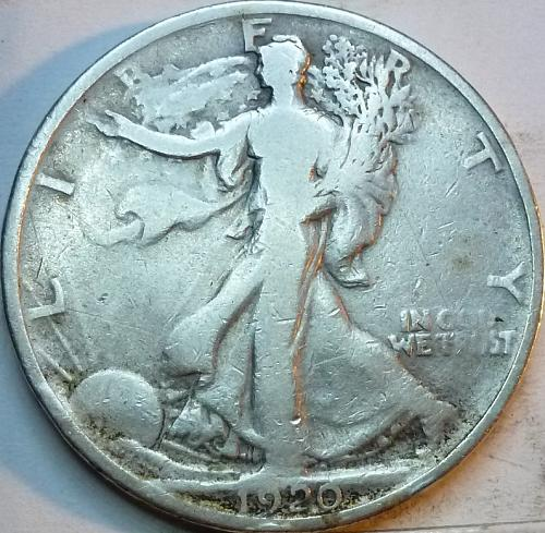 1920-P Fine Walking Liberty Half Dollar  ( 323 )