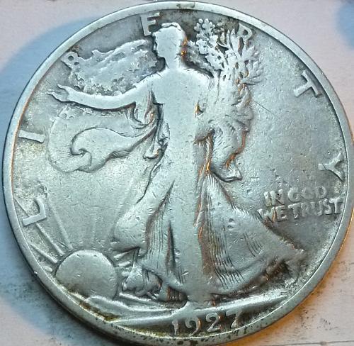 1927-S Fine Walking Liberty Half Dollar  ( 327 )