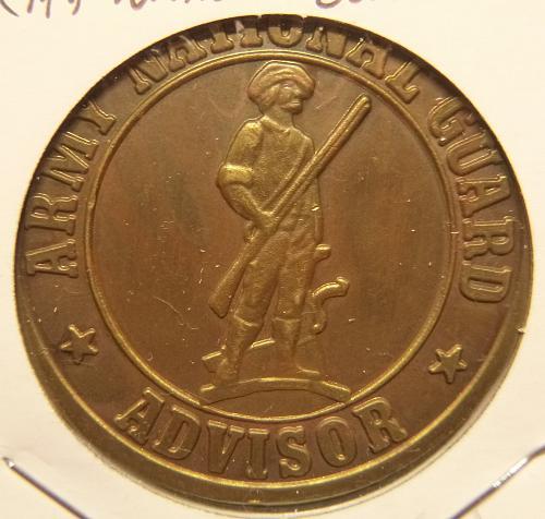 ARMY NATIONAL GUARD ADVISORY COMMEMORATIVE  COIN