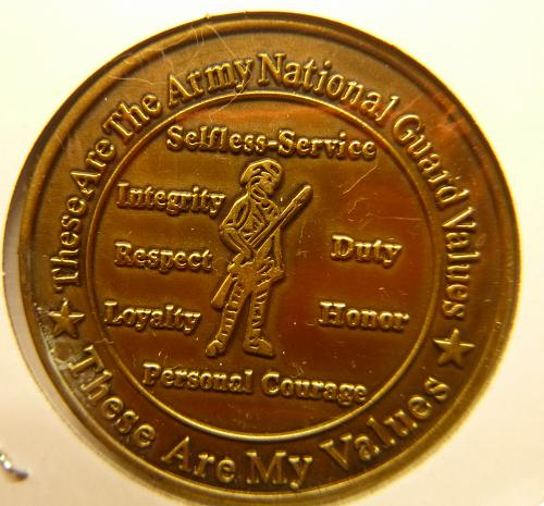 "ARMY NATIONAL GUARD ""YOU CAN"" COMMEMORATIVE  COIN"
