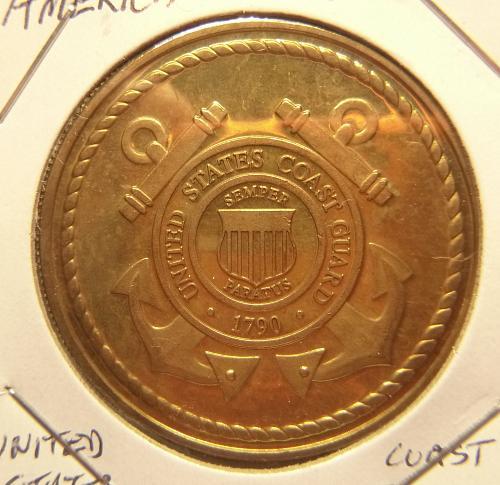 AMERICA UNITES 2001 COAST GUARD COMMEMORATIVE  COIN