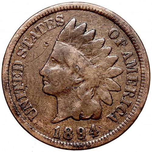 1894 P Indian Head Cent #31