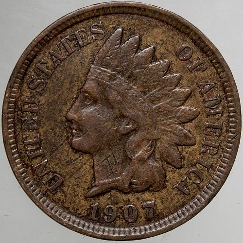 1907 Indian Head Cent #51