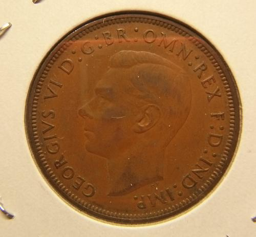 GREAT BRITAIN 1938 ONE PENNY COIN