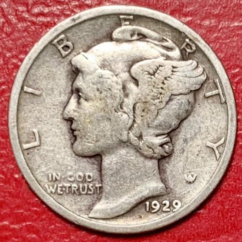 1929 Mercury Dime