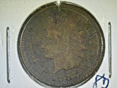 1887 P Indian Head Cent