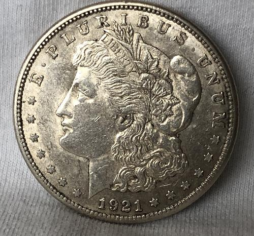 For sale a 1921 San Francisco Morgan silver Dollar