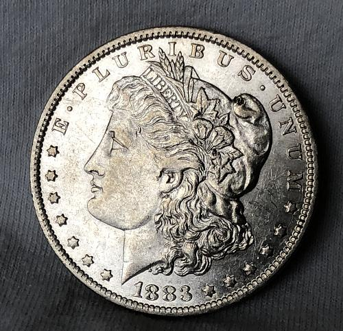 For sale a nice 1883 New Orleans Morgan silver Dollar
