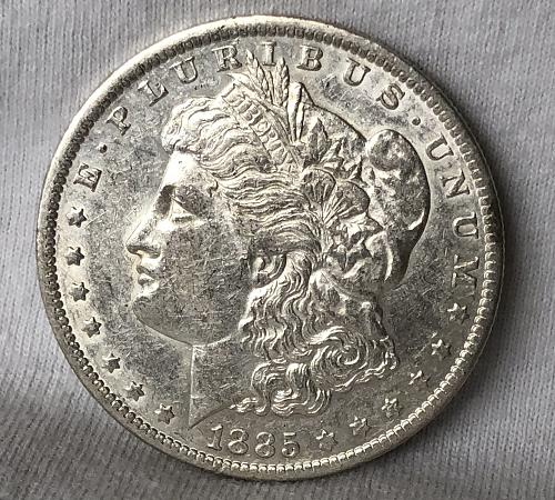 For sale a 1885 New Orleans Morgan silver Dollar