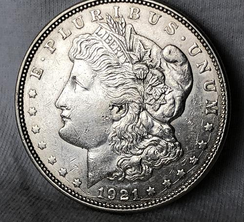For sale a nice 1921 Denver Morgan silver Dollar