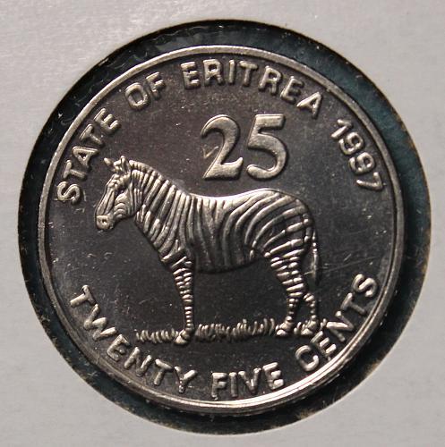 Eritrea 1997 25 cents