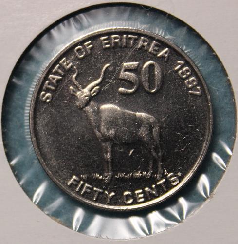 Eritrea 1997 50 cents