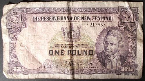 New Zealand P159a Pound Fine