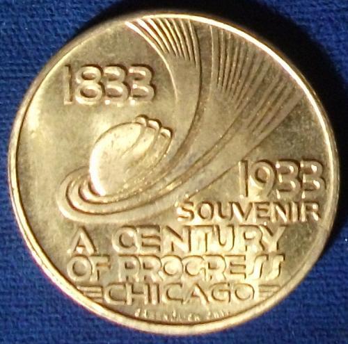 1933 Century of Progress Chicago World's Fair Souvenir UNC