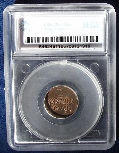 1926 Danzig 2 Pfennig MS63 SEGS