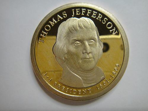 2007-S Jefferson Presidential Dollar Proof-66 (GEM+)