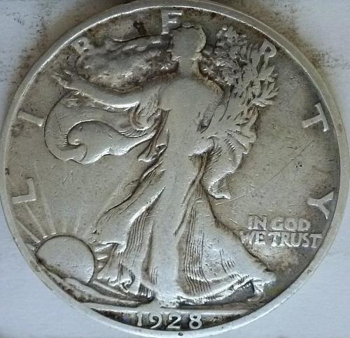 1928-S Very Fine Walking Liberty Half Dollar  ( 328 )