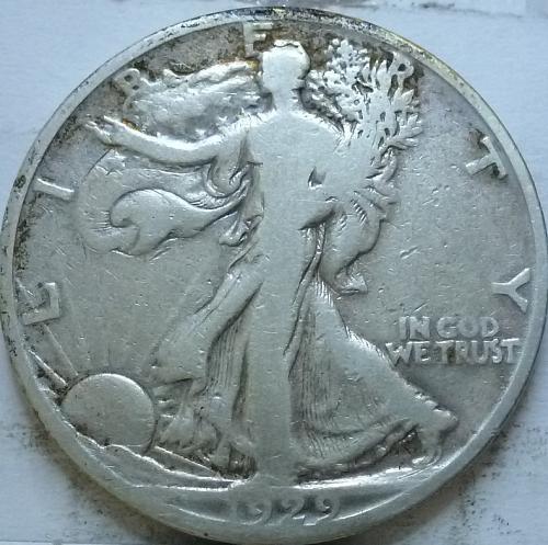 1929-S Fine Walking Liberty Half Dollar  ( 330 )