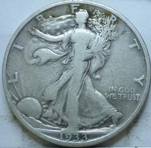 1933-S Very Fine Walking Liberty Half Dollar  ( 331 )