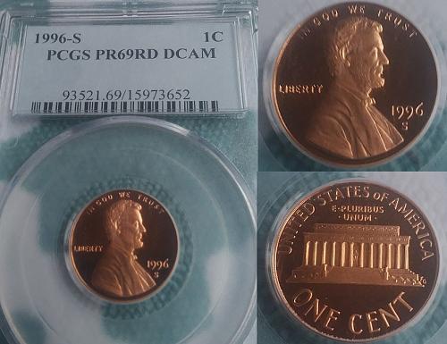1996-s penny certified PR69 PCGS