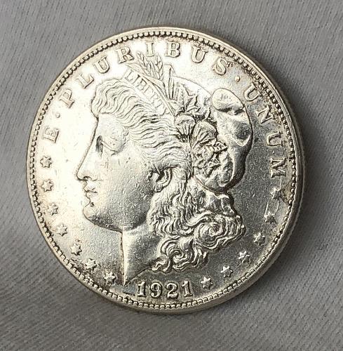 For sale a 1921 San Francisco Morgan silver Dollar, nice luster