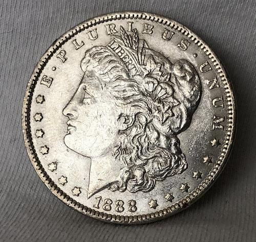 For sale a nice 1888 Philadelphia Morgan silver Dollar, with some nice luster