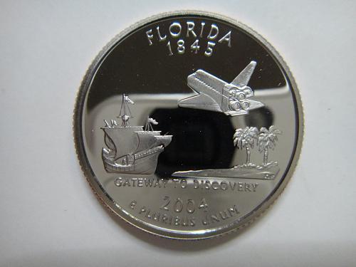 Statehood Quarter 2004-S Florida Clad Proof-66 (GEM+)