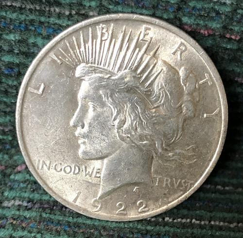 For sale a nice 1922 Philadelphia Peace silver Dollar, with nice luster