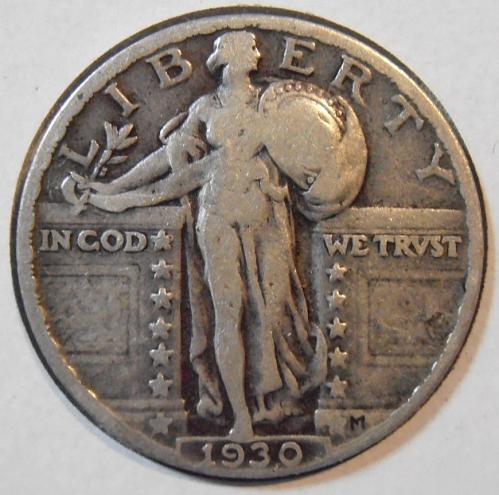 1930 P Liberty Standing Quarter (30PLS5)