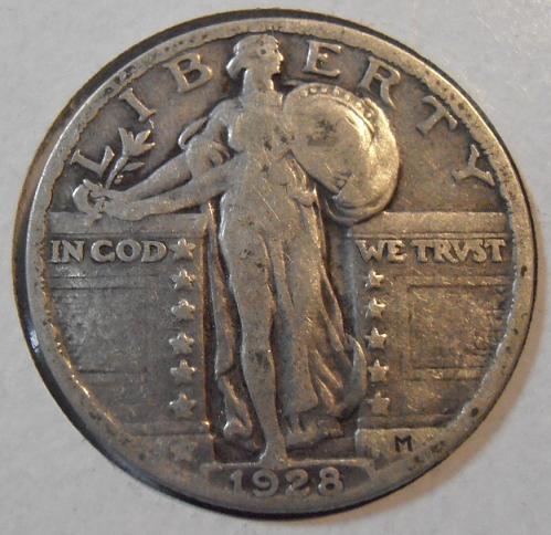 1928 P Liberty Standing Quarter (28PLS3)