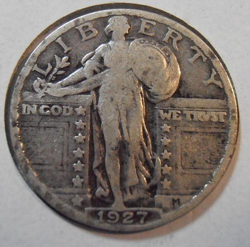 1927 P Liberty Standing Quarter (27PLS2)